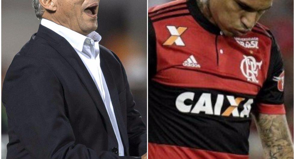 El técnico del Flamengo, Reinaldo Rueda,  explicó la situación en la cual se encuentra Paolo Guerrero. (Foto: Agencias)