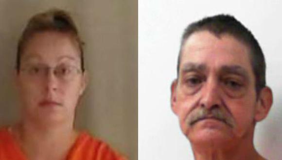 Amanda Michelle Naylor McClure y Larry Paul McClure Sr están acusados de haber asesinado a Thomas McGuire. (Crédito: Bluefield Daily Telegraph).