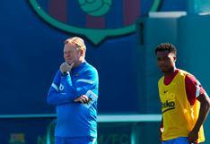 Ronald Koeman aseguró que Ansu Fati jugará quince minutos ante el Levante