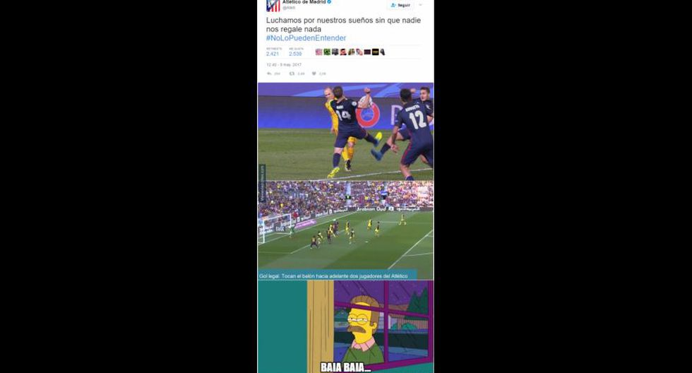 Real Madrid vs. Atlético Madrid: los memes de la semifinal - 38