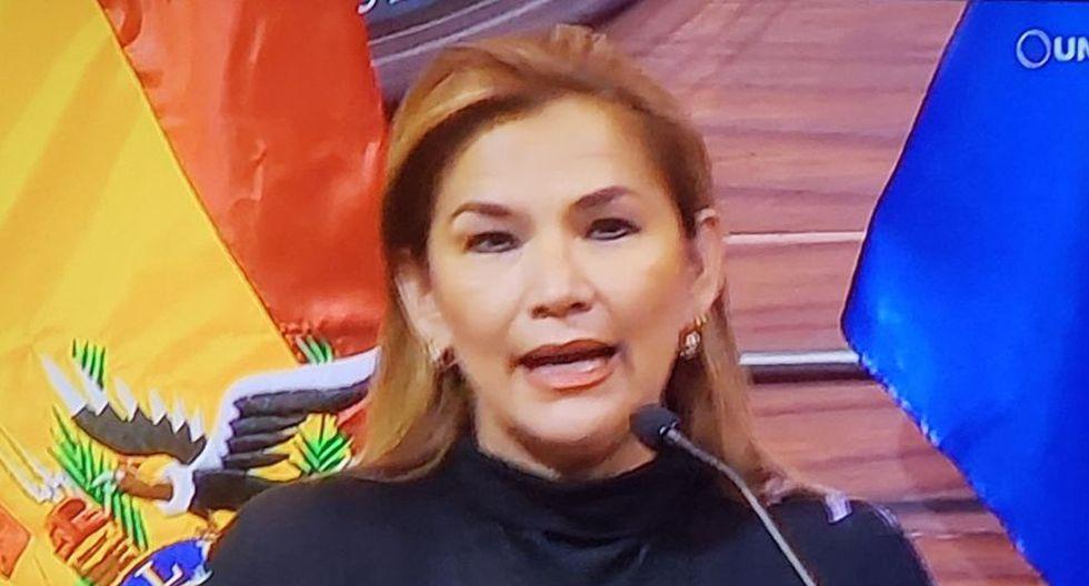 La senadora opositora Jeanine Añez confirma que asumirá la presidencia de Bolivia tras la renuncia de Evo Morales. (Captura de video)
