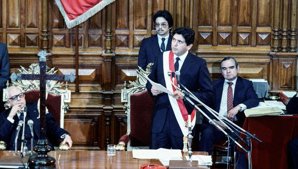 Alan García Pérez asumió por primera vez la presidencia de la República en 1985, a la edad de 35 años. [Foto: Archivo histórico de El Comercio]
