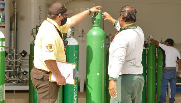 Verificarán el adecuado uso de los balones de oxígeno repartidos por el Gobierno Regional de Lambayeque. (Foto: Gore Lambayeque)