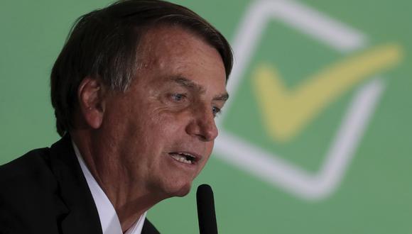 El actual presidente de Brasil, Jair Bolsonaro. AP