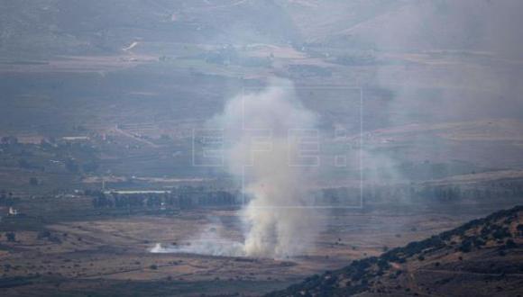 Imagen referencial. Tres cohetes fueron lanzados hoy desde el Líbano hacia Israel, activando las alarmas antiaéreas en varias localidades israelíes fronterizas, ante lo que el Ejército israelí respondió con disparos de artillería hacia el país árabe. (Foto: EFE)