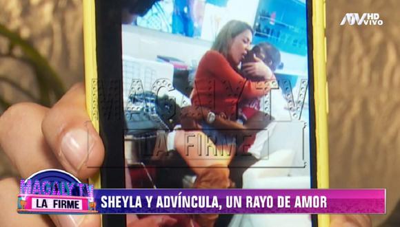 """Ex relacionista público de Sheyla Rojas expuso polémica imagen de Luis Advíncula junto a conductora de """"Estás en todas"""". (Foto: Captura 'Magaly TV: La Firme')"""