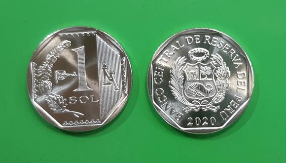 Moneda de S/1 (Foto: Franco Balza / El Comercio)