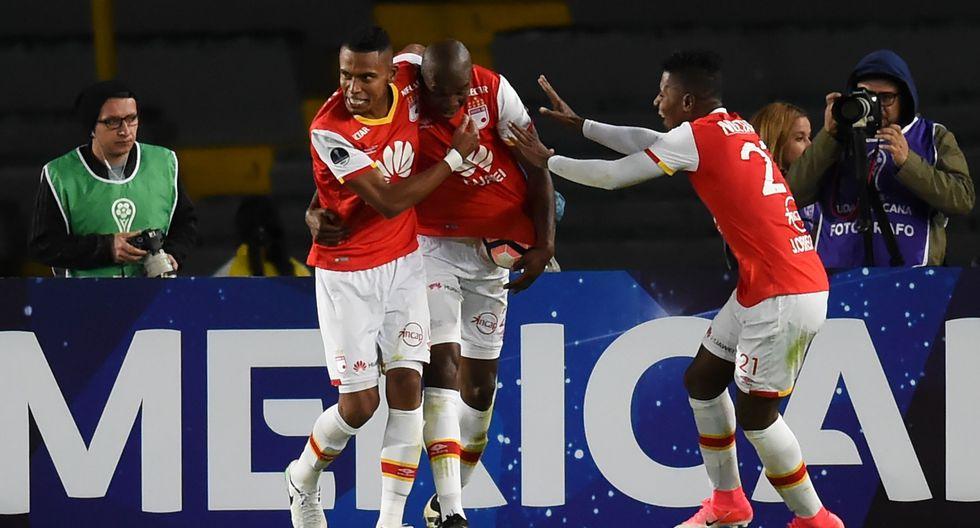 Santa Fe ganó 1-0 y eliminó a Fuerza Amarilla de la Copa Sudamericana. (Foto: Agencias)
