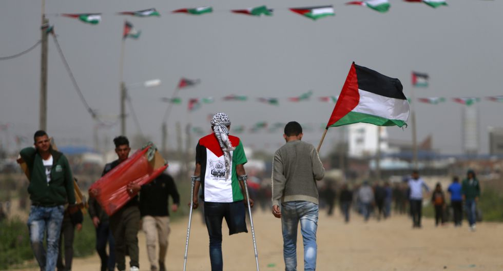 Esta reapertura de los pasos se produce luego de que el sábado decenas de miles de palestinos manifestaran en la frontera entre la Franja de Gaza e Israel. (Foto: AFP)