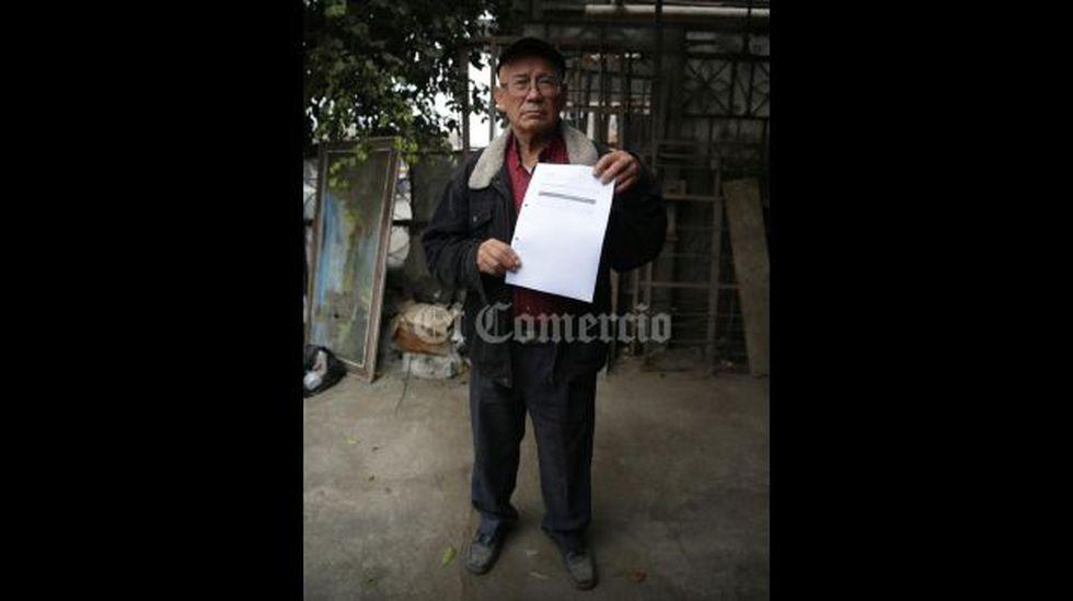 Juan Mallqui, jubilado que aparece como aportante de S/5 mil para la campaña de Solidaridad Nacional en el 2014.