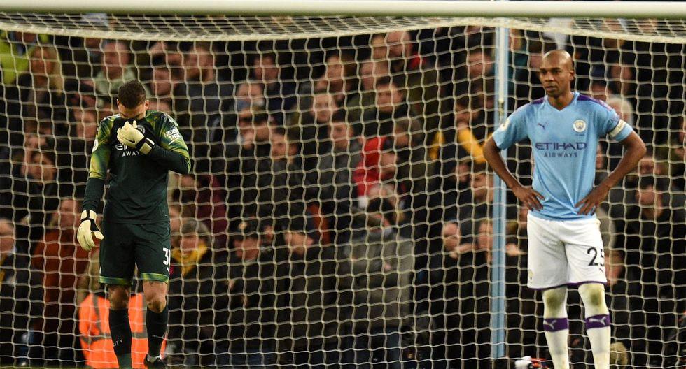 Estas son las mejores fotografías del encuentro entre el Manchester City y el Crystal Palace en la Premier League. AFP / Oli SCARFF