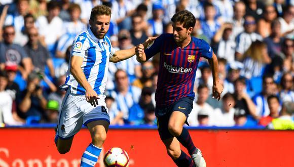 Barcelona vs. Real Sociedad EN VIVO ONLINE DIRECTO: 1-0 caen culés | vía DirecTV y beIN Sports. (Foto: AFP)