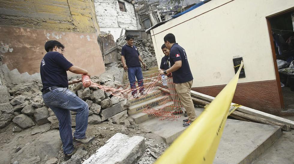 Así terminó casa en cerro San Cristóbal tras derrumbe [FOTOS] - 1