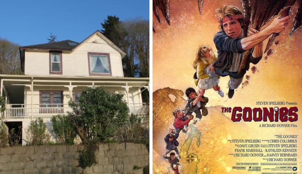 La casa de 'Los Goonies' se ha convertido en una pesadilla para su actual propietaria. (Fotos: TripAdvisor/didyouknowfacts.com)