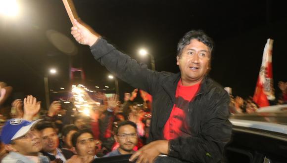 Excarcelación de Vladimir Cerrón Rojas. Fotos: Jhefryn Sedano