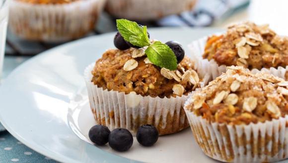 Muffins a a base de frutas y avena. (Foto: Difusión)