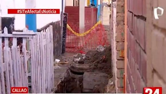 Sedapal aseguró que está en constante comunicación con los vecinos de la zona | Foto: Captura de video / Panamericana TV