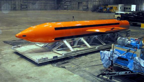MOAB, la poderosa bomba que Estados Unidos usó en Afganistán. (Foto: Reuters)