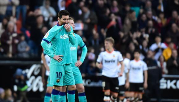 Lionel Messi no pudo impedir la derrota de su equipo. (AFP)