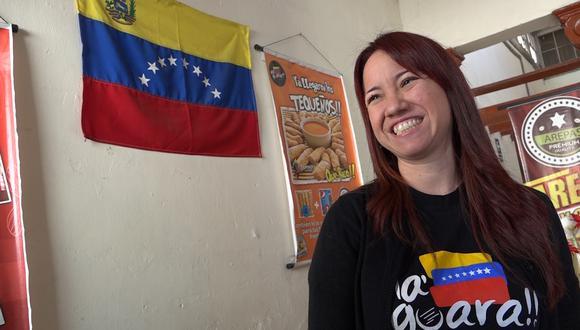"""Marjorie Dulanto, de """"Na`guara qué rico"""", su restaurantes venezolano ubicado en Breña."""