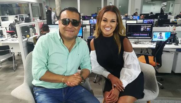 """Juan Carlos Orderique y Angie Arizaga, conductores de """"La Previa"""". (Foto: El Comercio)"""