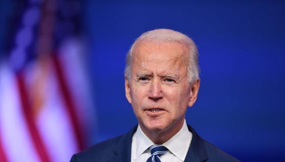 El presidente electo de Estados Unidos, Joe Biden, pronuncia un discurso en The Queen en Wilmington, Delaware, el 10 de noviembre de 2020. (Foto de ANGELA WEISS / AFP).