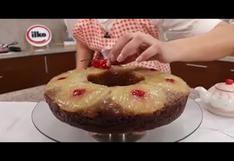 """Tres minutos de dulzura: aprenda a preparar """"Torta volteada de piña"""""""