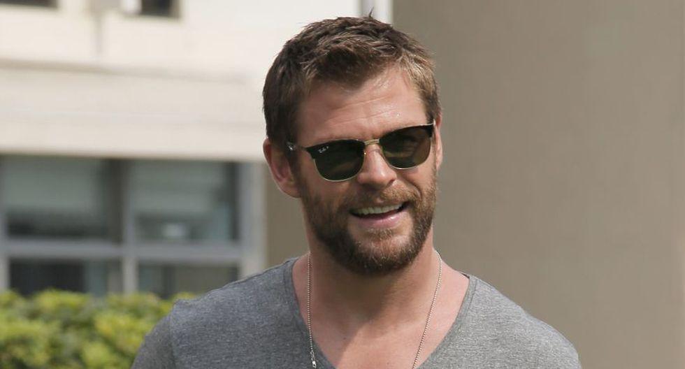 """Chris Hemsworth, muy popular por su interpretación de Thor en las películas sobre los cómics de Marvel, está negociando protagonizar la nueva cinta derivada de la trama de """"Men in Black"""". (Foto: Agencia)"""