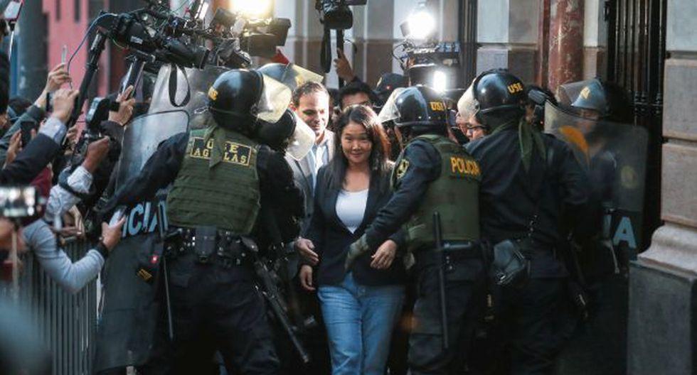 Keiko Fujimori afrontará en libertad la investigación que se le sigue por el Caso Odebrecht. (Foto:Hugo Pérez/GEC)