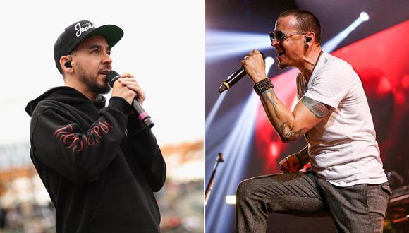 Mike Shinoda y Chester Bennington de Linkin Park. (Fotos: AFP)