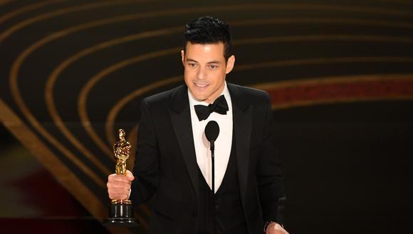 Rami Malek durante la edición 91 de los premios Oscar.
