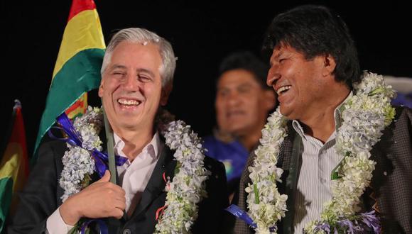 Evo Morales y Álvaro García Linera durante un acto político en El Alto a finales de octubre. (Foto: EFE)