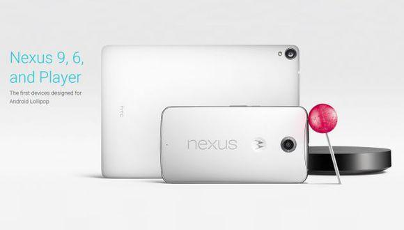 Google presentó los Nexus 6 y 9 con el nuevo Android: Lollipop