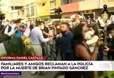 Familiares y amigos de Jack Pintado protestaron en exteriores de comisaría por su muerte