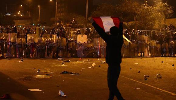 Los enfrentamientos con la policía se registraron durante la segunda marcha nacional el pasado 14 de noviembre. (Foto: Hugo Curotto / GEC)