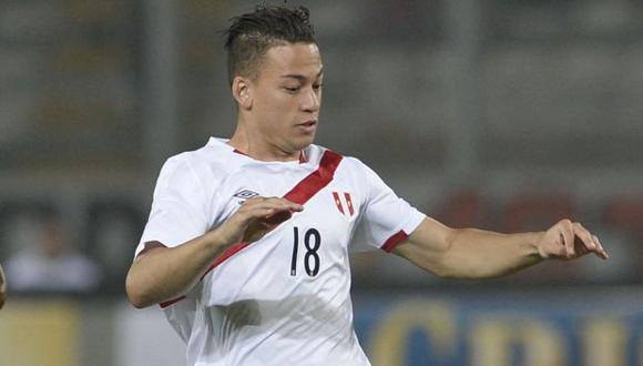 Cristian Benavente jugó por última vez por la selección peruana en un amistoso ante Colombia. (Foto: AFP)