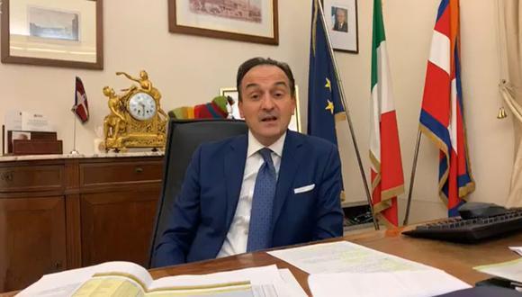 Presidente de Piamonte, Alberto Cirio, anuncia que se contagió de coronavirus. (Foto: captura)