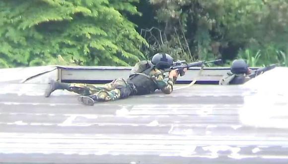 Según usuarios de redes sociales, los francotiradores serían miembros de la Guardia Nacional Bolivariana (GNB).