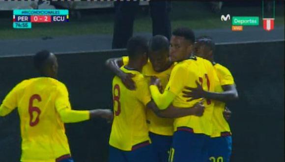 Perú vs. Ecuador: Enner Valencia anotó el 2-0 tras esta gran jugada. (Foto: captura)