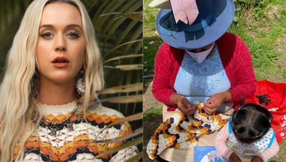 """Katy Perry usó vestido tejido por artesana peruana en el video oficial de """"Electric"""". (Foto: @escvdo)"""