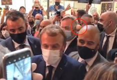 """Francia: lanzan huevo a Emmanuel Macron al grito de """"Viva la revolución"""""""