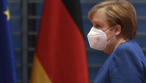 Angela Merkel prevé confinamientos por coronavirus en Alemania hasta inicios de abril. (John MACDOUGALL / various sources / AFP).