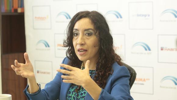 Giovanna Prialé Reyes, presidenta de la Asociación de AFP. (Foto: Diana Chávez/ GEC)