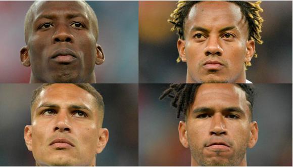 Luis Advíncula, André Carrillo, Paolo Guerrero y Pedro Gallese. (Fotos: AFP)
