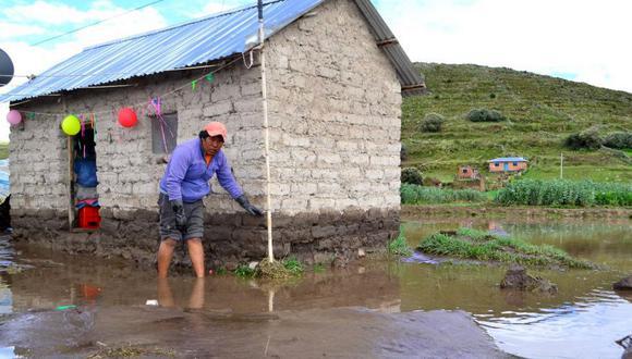 Las situaciones más graves se presentaron en distritos de las provincias de Lampa y Chucuito, donde se tienen un total de 64 viviendas rurales dañadas, varias de los cuales están declaradas como inhabitables (Foto: Coer Puno)