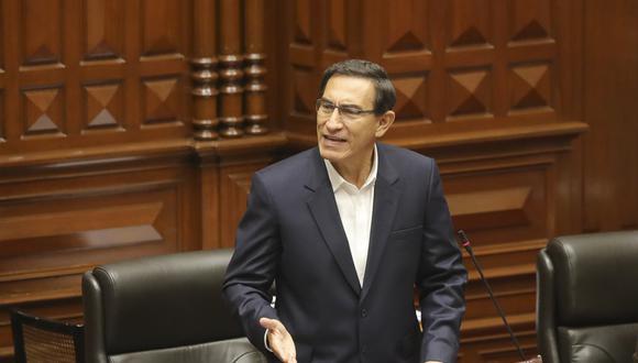 Con 32 votos a favor, 78 en contra y 15 abstenciones, el pleno del Congreso rechazó, el 18 de setiembre, la moción de vacancia contra el presidente Martín Vizcarra por el Caso Richard Swing. (Foto: Presidencia de la República)
