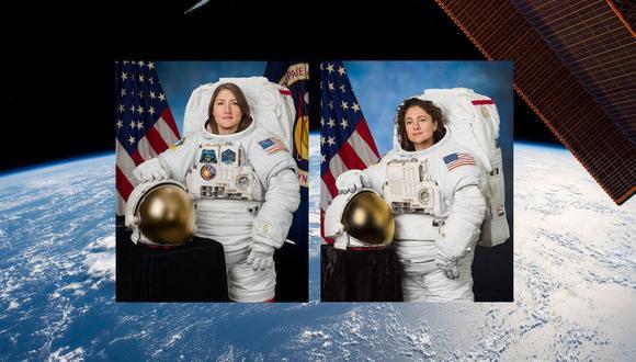 Astronautas Christina Koch (derecha) y  Jessica Meir (izquierda). (Foto: captura)
