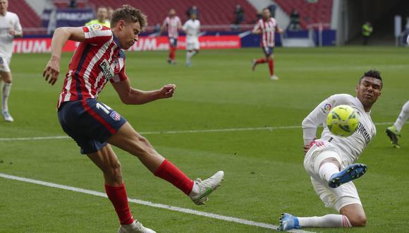 Marcos Llorente dio sus impresiones sobre el empate en el derbi de Madrid   Foto: AP