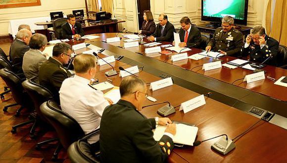 Humala explicó a los ministros y las máximas autoridades militares sobre la labor del gobierno por el diferendo marítimo con Chile. (Foto: Presidencia de la República)