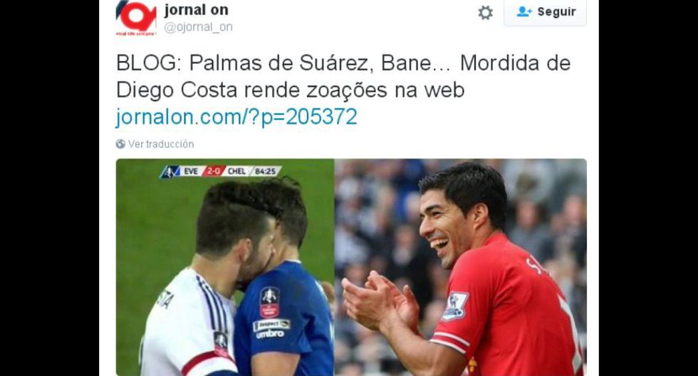 Los memes del mordisco de Diego Costa en la FA Cup [GALERÍA] - 2